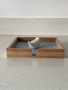 NAPKIN HOLDER ACACIA WOOD