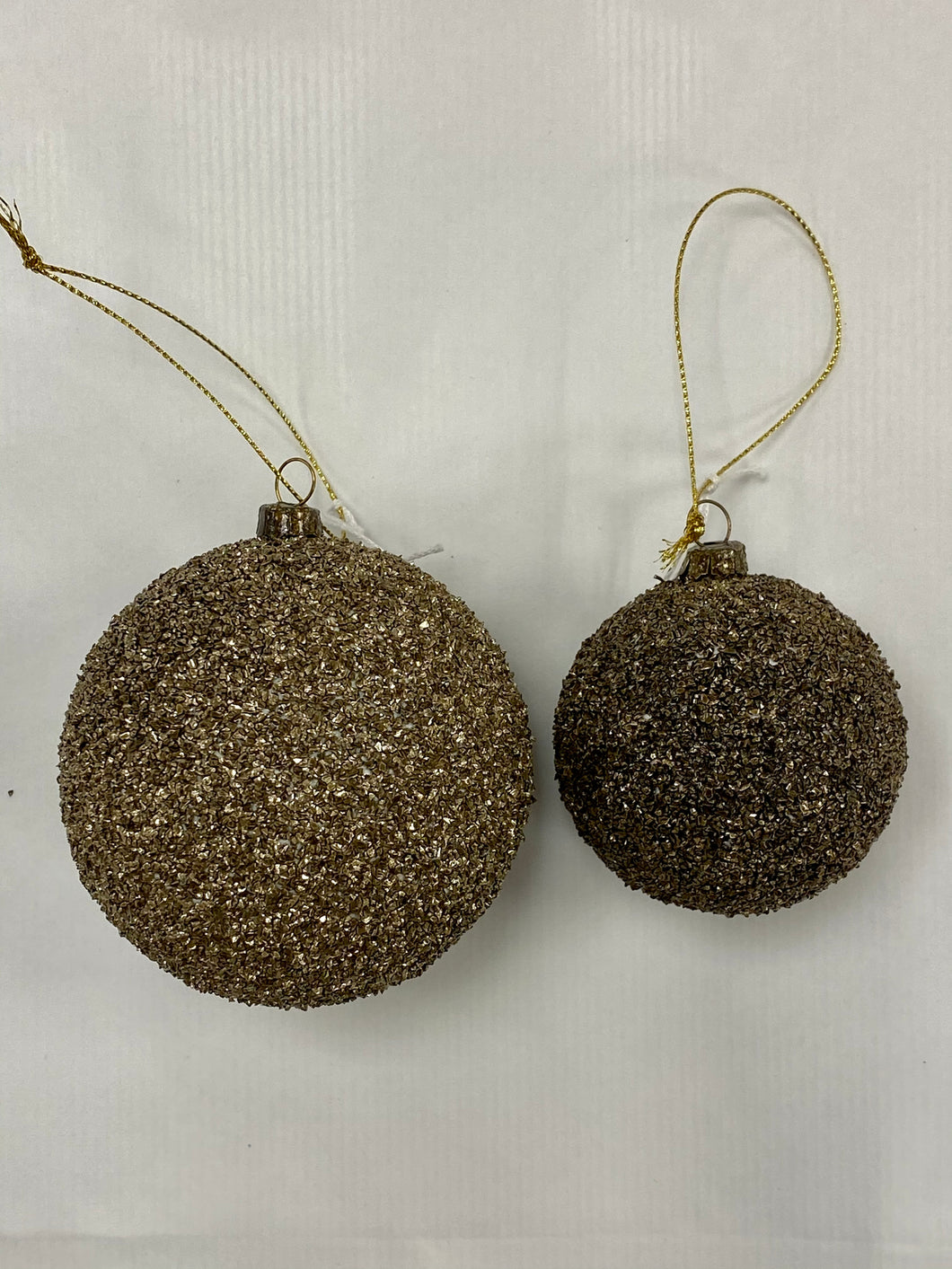 DULL GOLD GLITTER BAUBLE