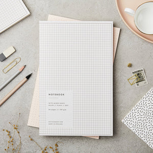 GREY GRID NOTEBOOK