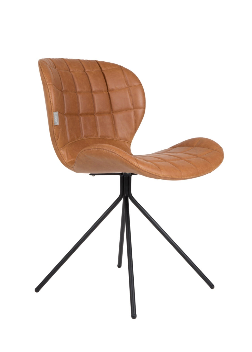 TAN FAUX LEATHER CHAIR
