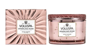 Voluspa Sparkling Rose Boxed Glass Candle