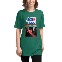 Unisex Tri-Blend Track Shirt - Biden 2020 Knock Out Punch