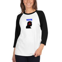 3/4 sleeve raglan shirt - VOTE OR ELSE