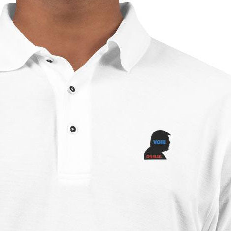 Men's Embroidered Logo Premium Polo - VOTE Or Else