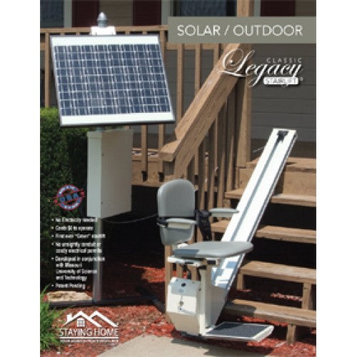 Solar Powered Legacy Classic Outdoor Stair Lift