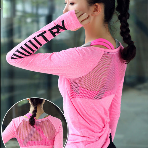 Women's Fit-B Thumb Hole Yoga Top - fitnessbudget