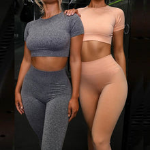 Load image into Gallery viewer, Women's Seamless 2 Piece Yoga Set