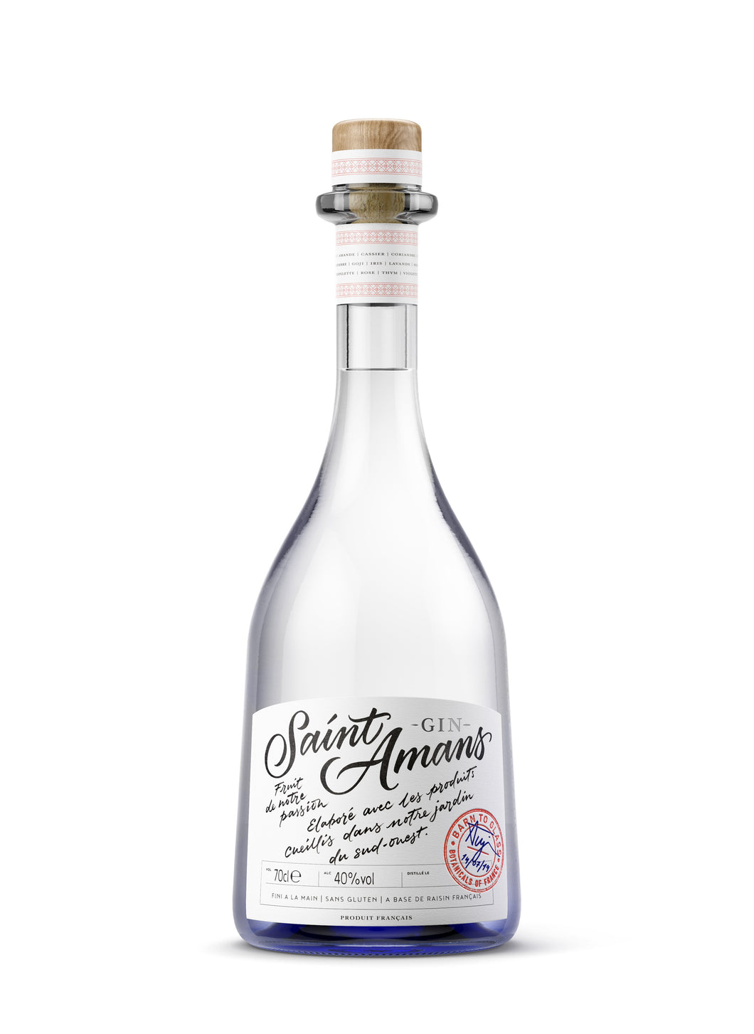 Bottle of Saint Amans Gin Original,  a French, award-winning London Dry gin.
