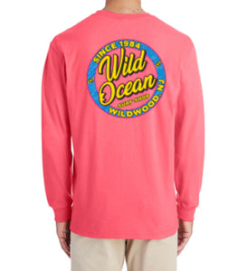 Neon Long Sleeve T-Shirt (Coral)