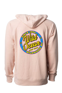 Neon Terry Hooded Sweatshirt (Rose)