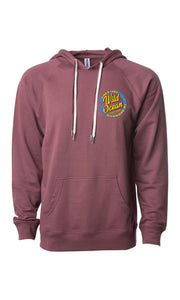 Neon Terry Hooded Sweatshirt (Port)