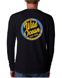 Neon Long Sleeve T-Shirt (Black)