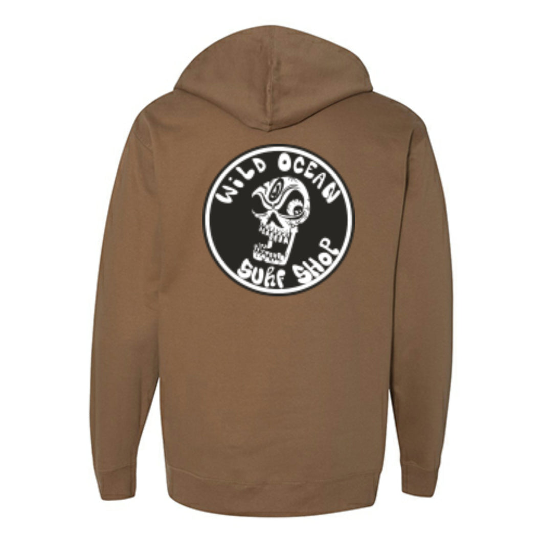 Kooker Skull Hoody (Saddle)