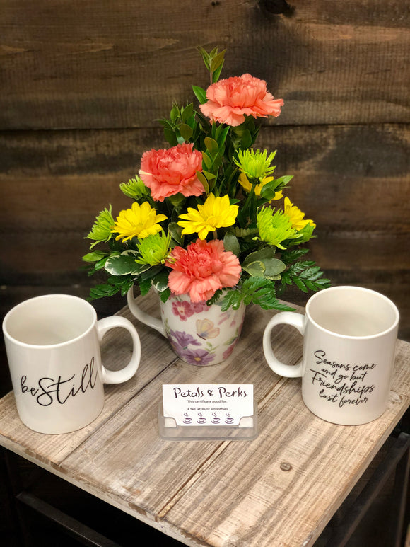 Mug Arrangement (Plus Optional Drink Certificate)