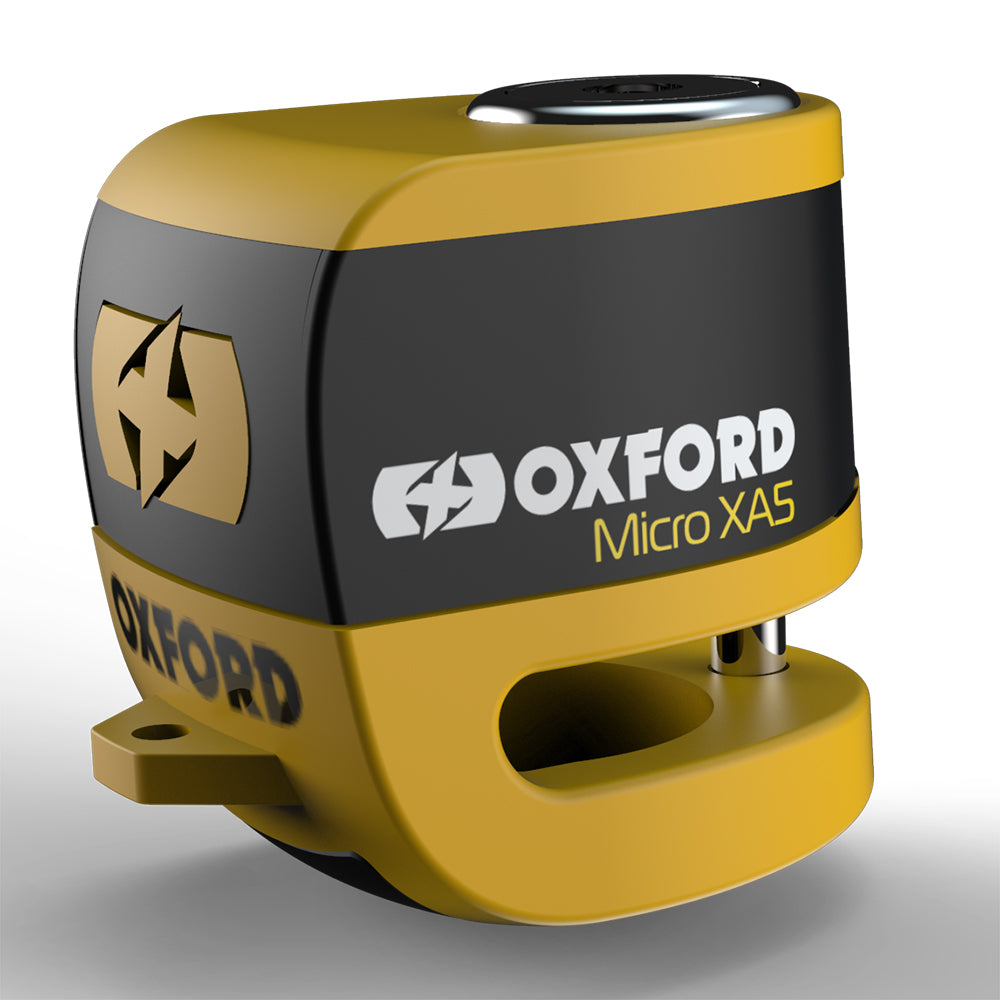 Oxford Micro XA5 Alarm Disc Lock Yellow/Black