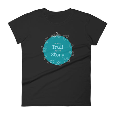 T-Shirt Damen 'Every Trail has a Story'
