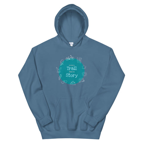 Hoodie Unisex 'Every Trail has a Story'