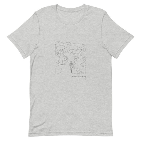 T-Shirt Line Art Trailrunning