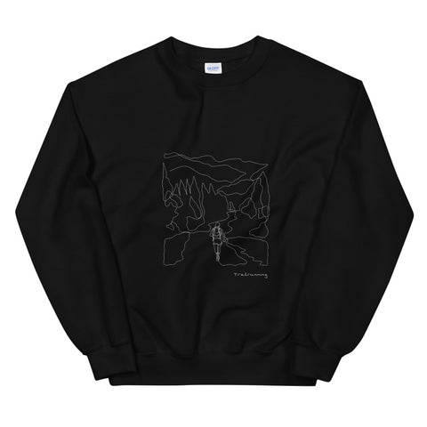 Sweatshirt Line Art Trailrunning