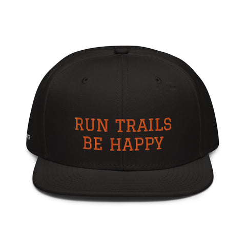 Snapback Cap Run Trails Be Happy PERSONALISIERBAR