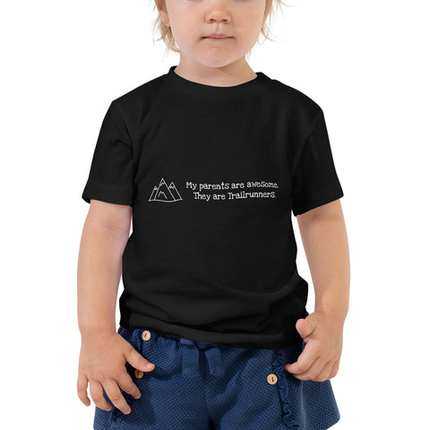 Kurzärmeliges Kleinkind T-Shirt 'My parents are awesome. They are Trailrunners.'