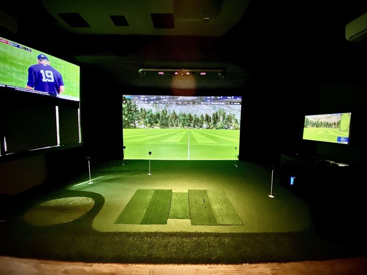 2-Piece Custom Golf Simulator Screen System