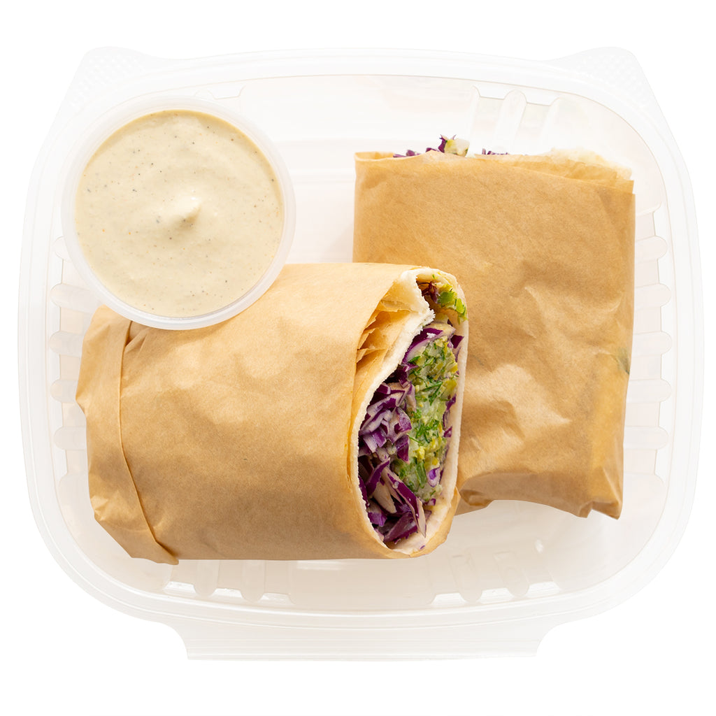 "Dill ""Chickpea Tuna"" Wrap"