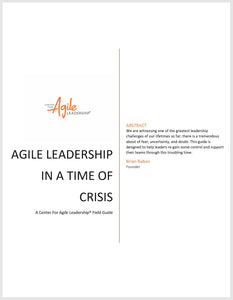 New eBook - Agile Leadership In A Time Of Crisis