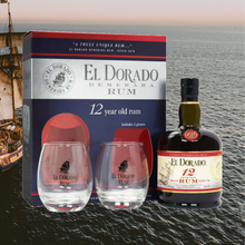 Load image into Gallery viewer, El Dorado 12 Year Old + 2 Glasses Gift Pack