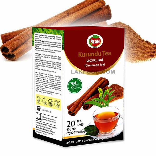 Beam Cinnamon Tea - 20 Tea Bags (කුරුඳු තේ)