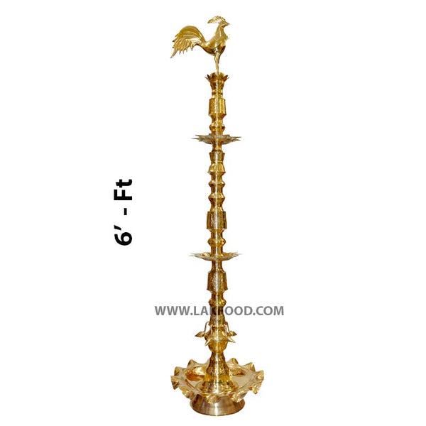 6 Ft. Brass Lamp