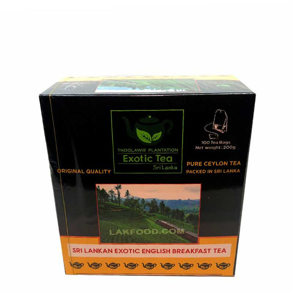 Ceylon English Breakfast Tea 100 Bags