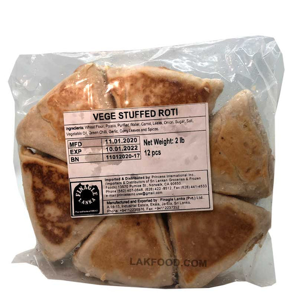 Finagle Vegetable Roti (Value Pack) 12-Pcs **