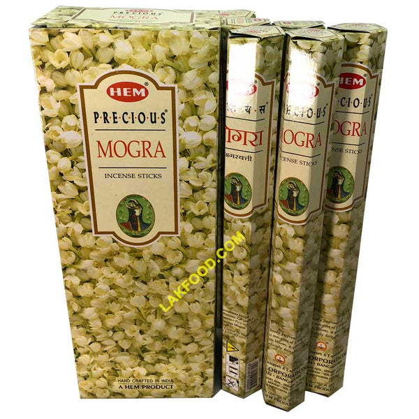 Hem Incense Sticks - Mogra - 6-Packs Box
