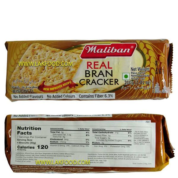 Maliban Real Bran Cracker 210g