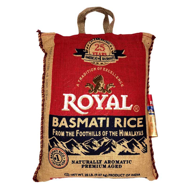 Royal Basmathi Rice 20LB - Limit 1 Per Customer
