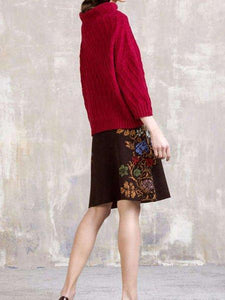 Casual Boho Vintage Skirt