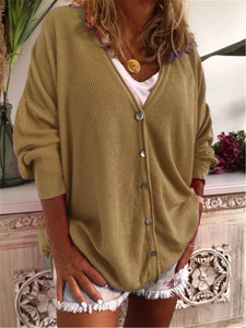 Casual V Neck Outerwear