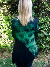 Load image into Gallery viewer, Black Cotton-Blend Long Sleeve Ombre/tie-Dye Shirts & Tops