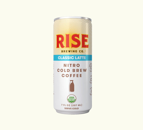 Rise Brewing Co. | Classic Nitro Cold Brew Latte, 7oz | 12-Pack