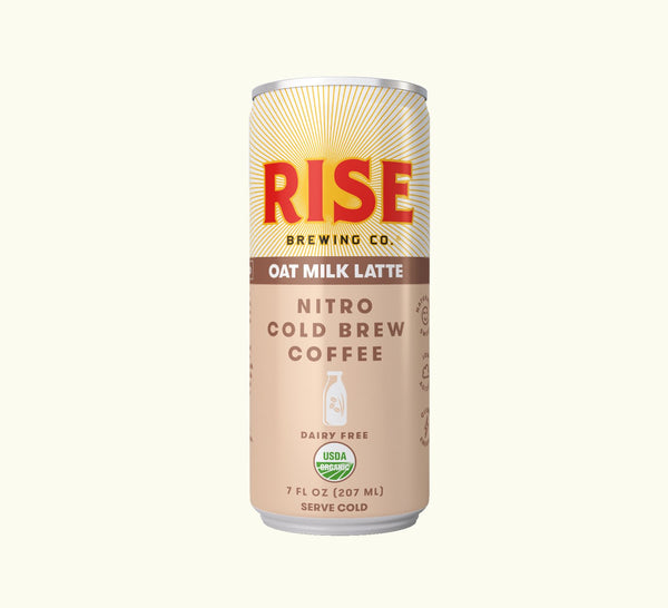 Rise Brewing Co. | Oat Milk Nitro Cold Brew Latte, 7oz | 12-Pack