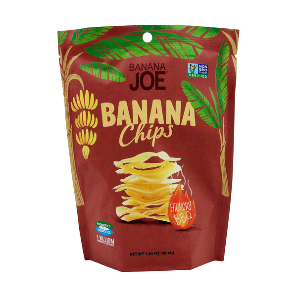 Banana Joe | Hickory BBQ Banana Chips, 1.65oz | 6-Pack