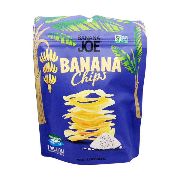 Banana Joe | Sea Salt Banana Chips, 1.65oz | 6-Pack
