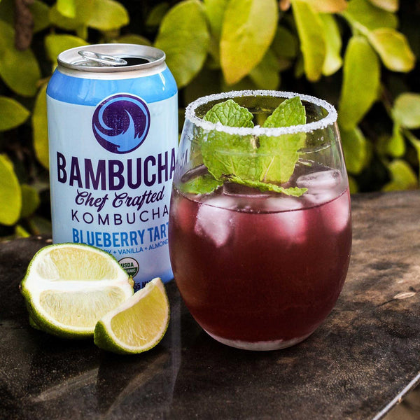Bambucha Kombucha | Blueberry Tart, 12oz | 6-Pack