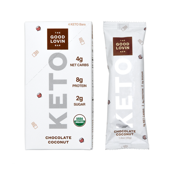 The Good Lovin Bar | Chocolate Coconut Keto Bar, 1.6oz | 4-Pack