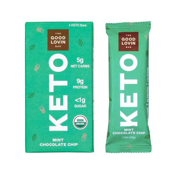 The Good Lovin Bar | Chocolate Mint Keto Bar, 1.6oz | 4-Pack