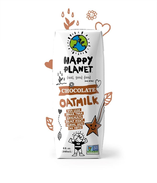Happy Planet | Chocolate Oatmilk, 8oz | 12-Pack