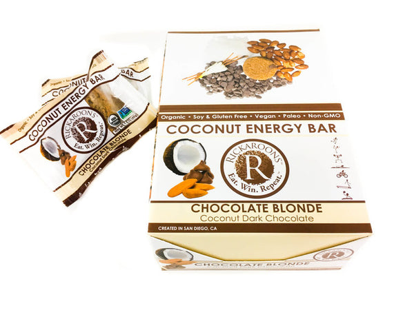 Rickaroons | Chocolate Blonde Coconut Energy Bar, 1.6oz | 12-Pack