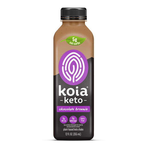 Koia | Chocolate Brownie Keto Protein Shake, 12oz | 6-Pack