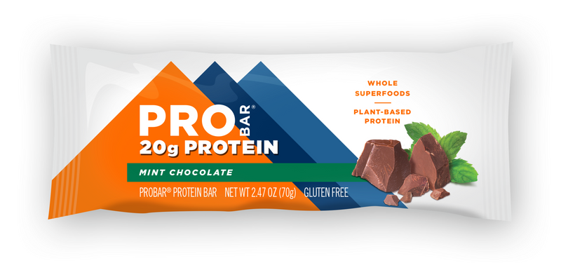 ProBar | Mint Chocolate Base Bar, 2.47oz | 12-Pack
